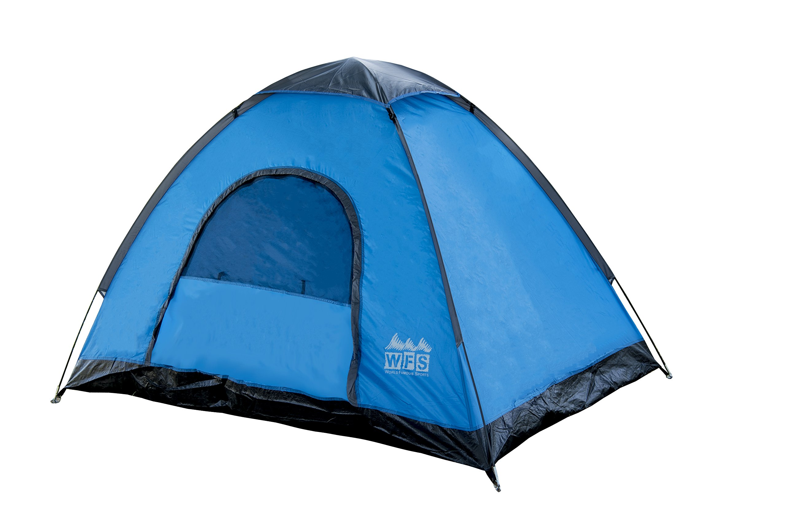 World Famous Sports 2-Person Camping Tent, Blue/Black