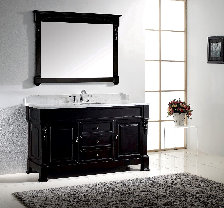 Virtu USA GS-4060-WMSQ-DW 60-Inch Huntshire Single Sink Bathroom ...