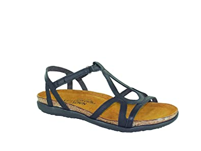3457d0fed08e NAOT Footwear Women s Dorith Sandal Black Raven Leather - 35 M EU   4-4.5