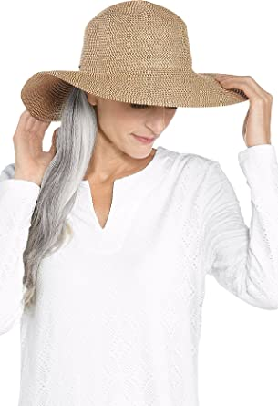 Coolibar UPF 50+ Women s Elegant Floppy Sun Hat - Sun Protective (One Size-  Tan) at Amazon Women s Clothing store  2ffbfaaa4039