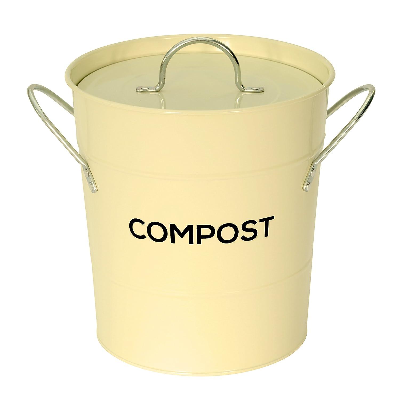 Cubo de reciclaje de basura de metal para la cocina