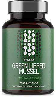 Mejillón de labios verdes - 500mg x 180 cápsulas | Mejill Labio Verde Extracto Suplemento -