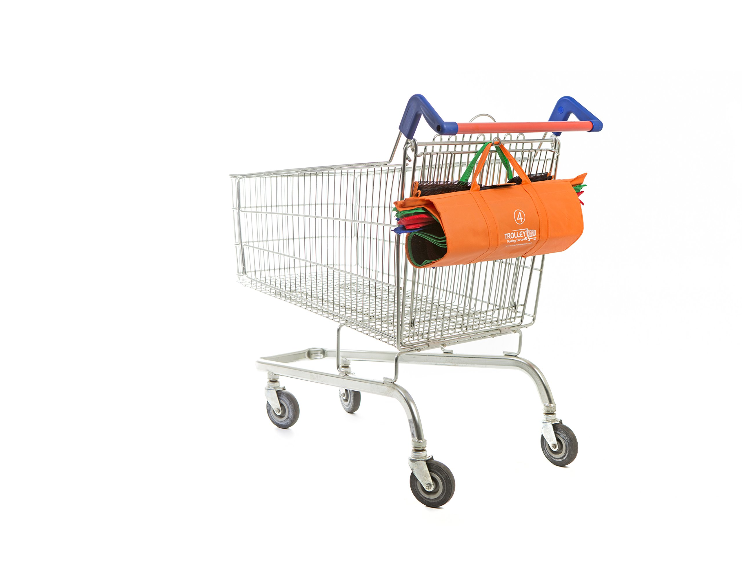 Trolley Bags - Reusable Eco Friendly Grocery Bags to Easily and Safely Bag your Groceries From Your Cart. Sized for Standard Grocery Carts. Reusable Cart Bags. (Standard Cart Size) by Trolley Bags (Image #5)