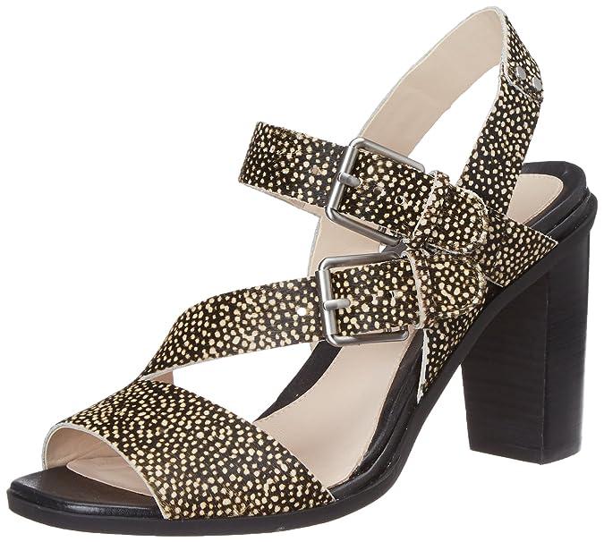 Clarks Women's Image Dazzle Leather Fashion Sandals Women's Fashion Sandals at amazon