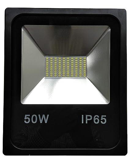 Led Atomant 2x Foco Proyector Led 50 W, Blanco Frio 6500K, para ...