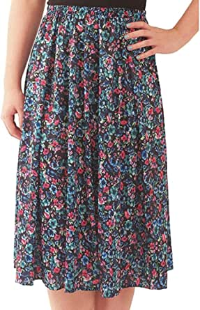 DSJ Fashion Friendly Ladies Floral Elasticated Skirt
