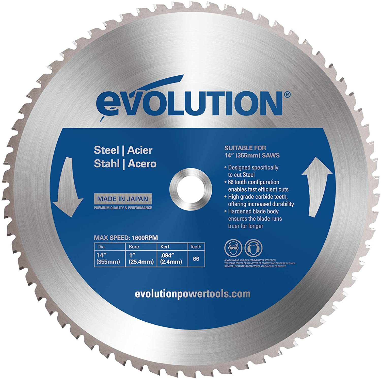 Evolution Power Tools 14 In Steel Cutting Saw Blade