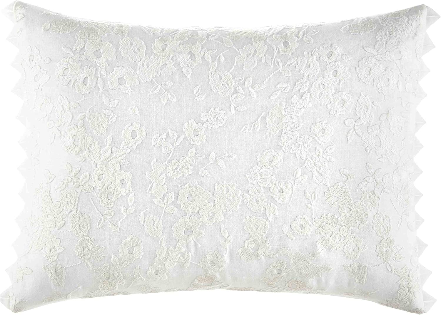 """Laura Ashley Home   Classics Collection   Perfect Decorative Throw Pillow, Premium Designer Quality, Decorative Pillow for Bedroom Living Room and Home Décor, 12"""" X 16"""", Ivory"""