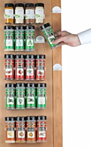 Spice Rack 36 spice gripper- Spice Racks Strips Cabinet Cabinet Door - Use Spice Clips for Spice Organizer - stick or screw Spice Storage Spice Clips