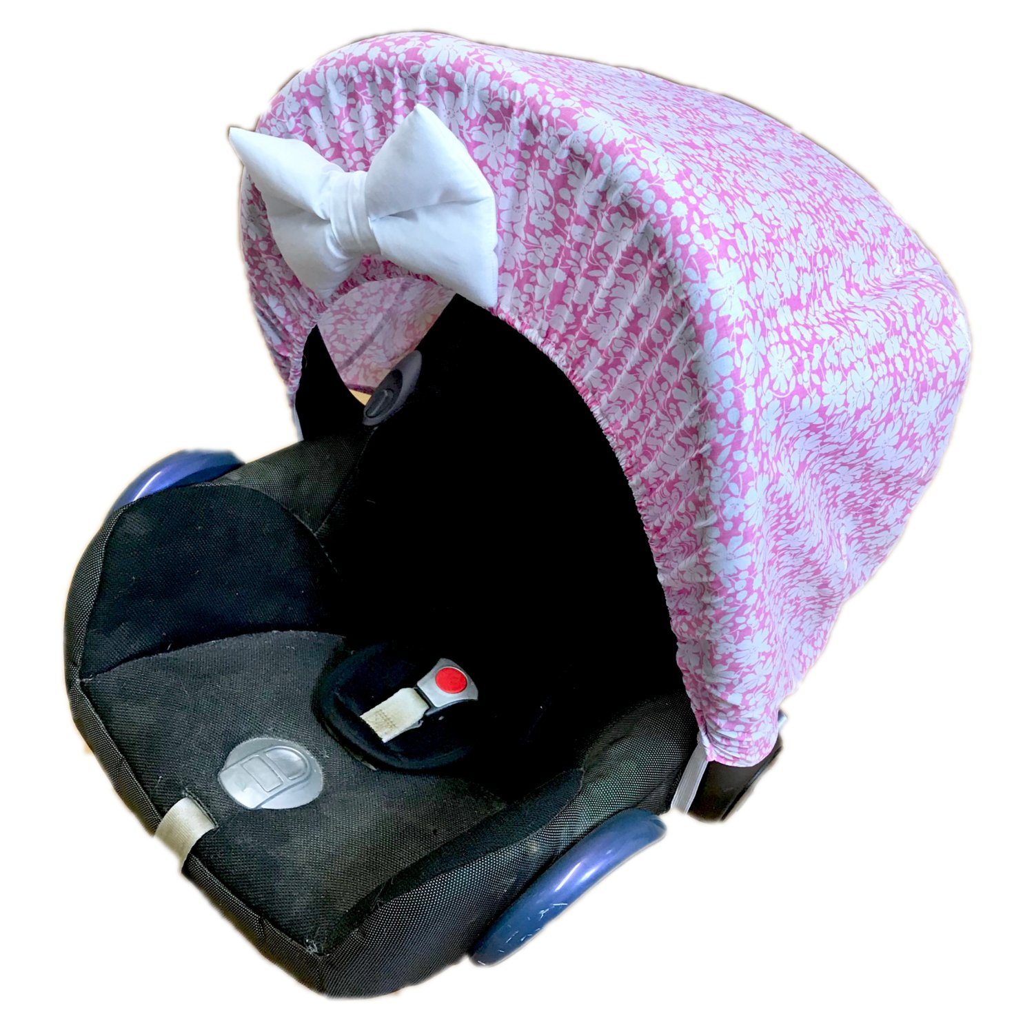Boys Girls Pink Flower Baby CAR SEAT Sun Canopy Shade Hood Parasol Universal Stage Group 0