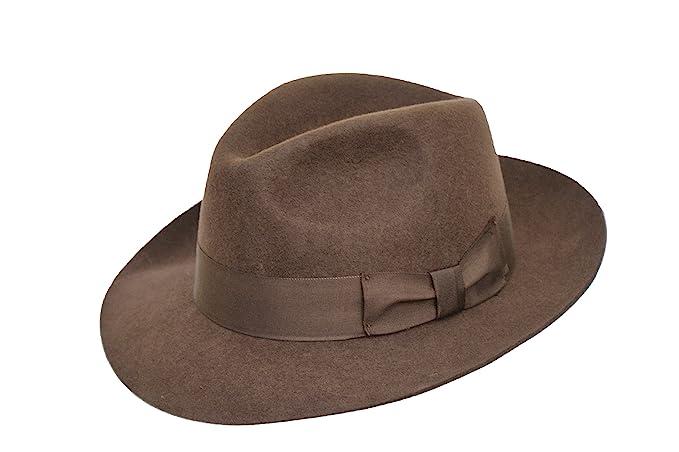 Desconocido Hecho a Mano para Hombre Fedora Sombrero de Fieltro con ... 8546393b643
