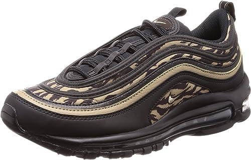 Nike Air Max 97 AOP Running Shoes Tiger Camo Black Khaki Brown Size 9 Aq4132 001