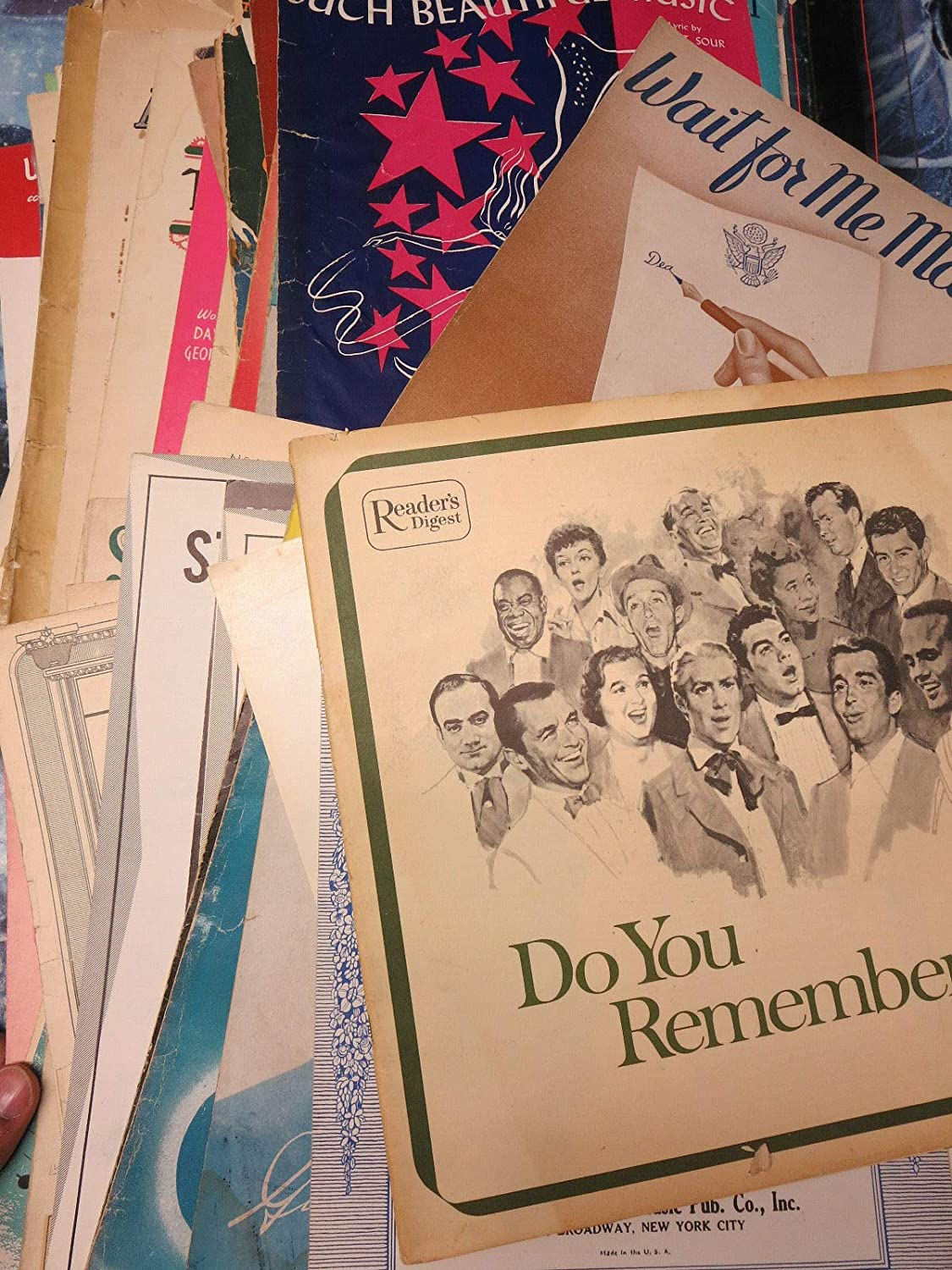 Sheet Music Lot - Popular Songs from the 1940s to 1960s - 70