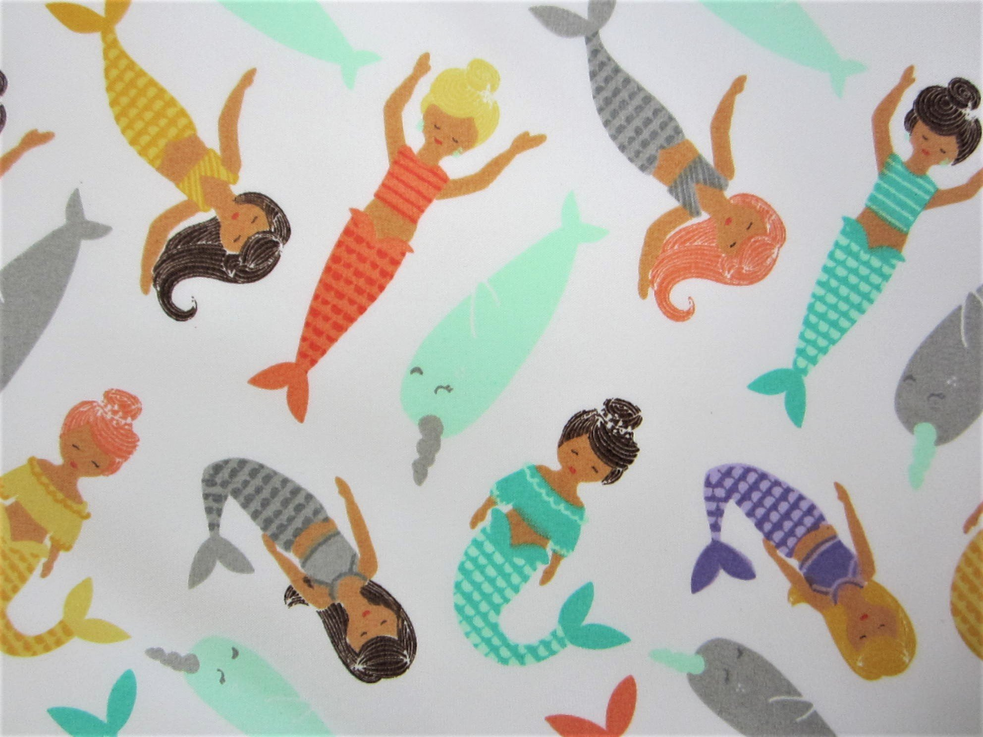 Magical Mermaids 100% Polyester (FLAT SHEET ONLY) Size TWIN Boys Girls Kids Bedding