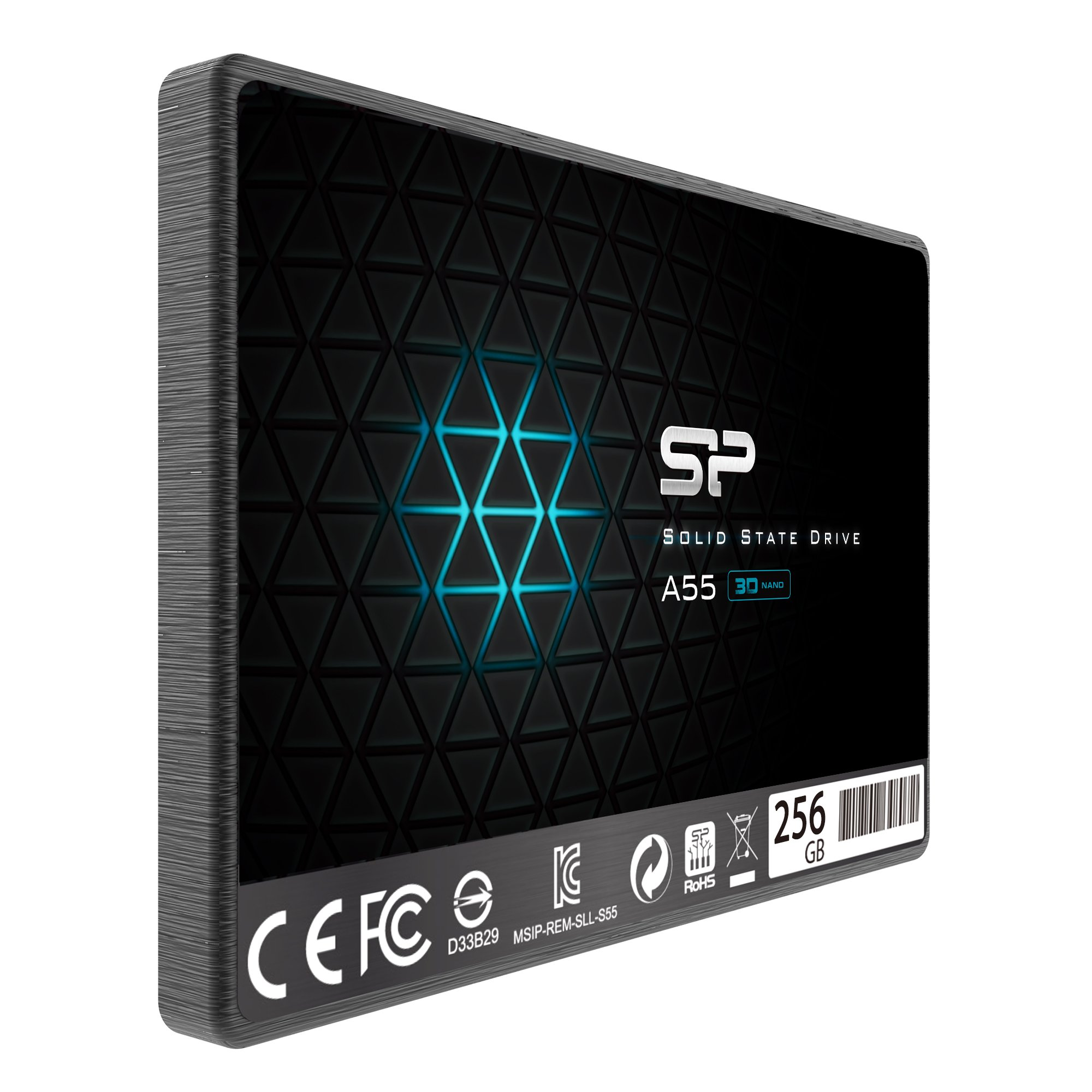 Silicon Power 256GB SSD 3D NAND A55 SLC Cache Performance Boost SATA III 2.5'' 7mm (0.28'') Internal Solid State Drive (SP256GBSS3A55S25) by SP Silicon Power (Image #2)