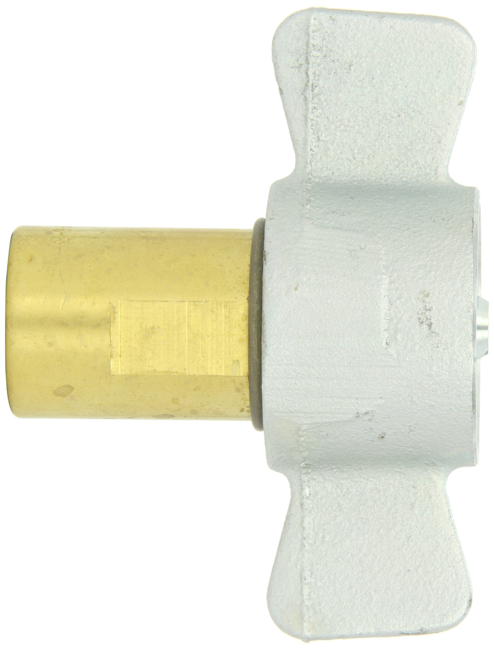 Dixon 78-600 Brass Hydraulic Thread to Connect Fitting, Coupler with Iron Nut, 3/4'' Coupling x 3/4''-14 NPT by Dixon Valve & Coupling (Image #2)