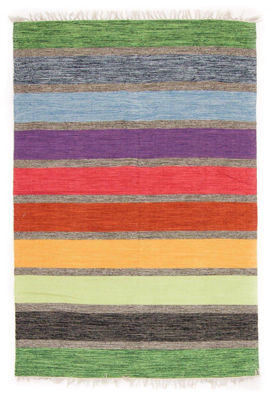 Trendcarpet Teppich 200 x 290 cm (baumwollteppich) - Gotland (multi) Größe 200 x 290 cm