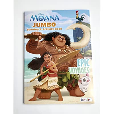 UPD 43722 Moana Coloring Activity Book, Multicolor: Toys & Games