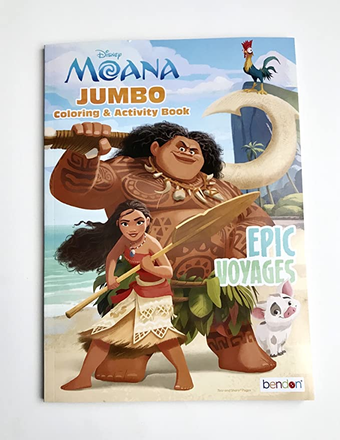 Amazon.com: UPD 43722 Moana Coloring Activity Book, Multicolor: Toys & Games