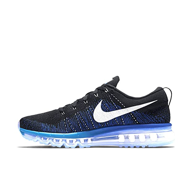 Best Selling Nike Flyknit Max - Black / White / Blue Glow / Bright Mango / Deep Royal Blue Shop No.5
