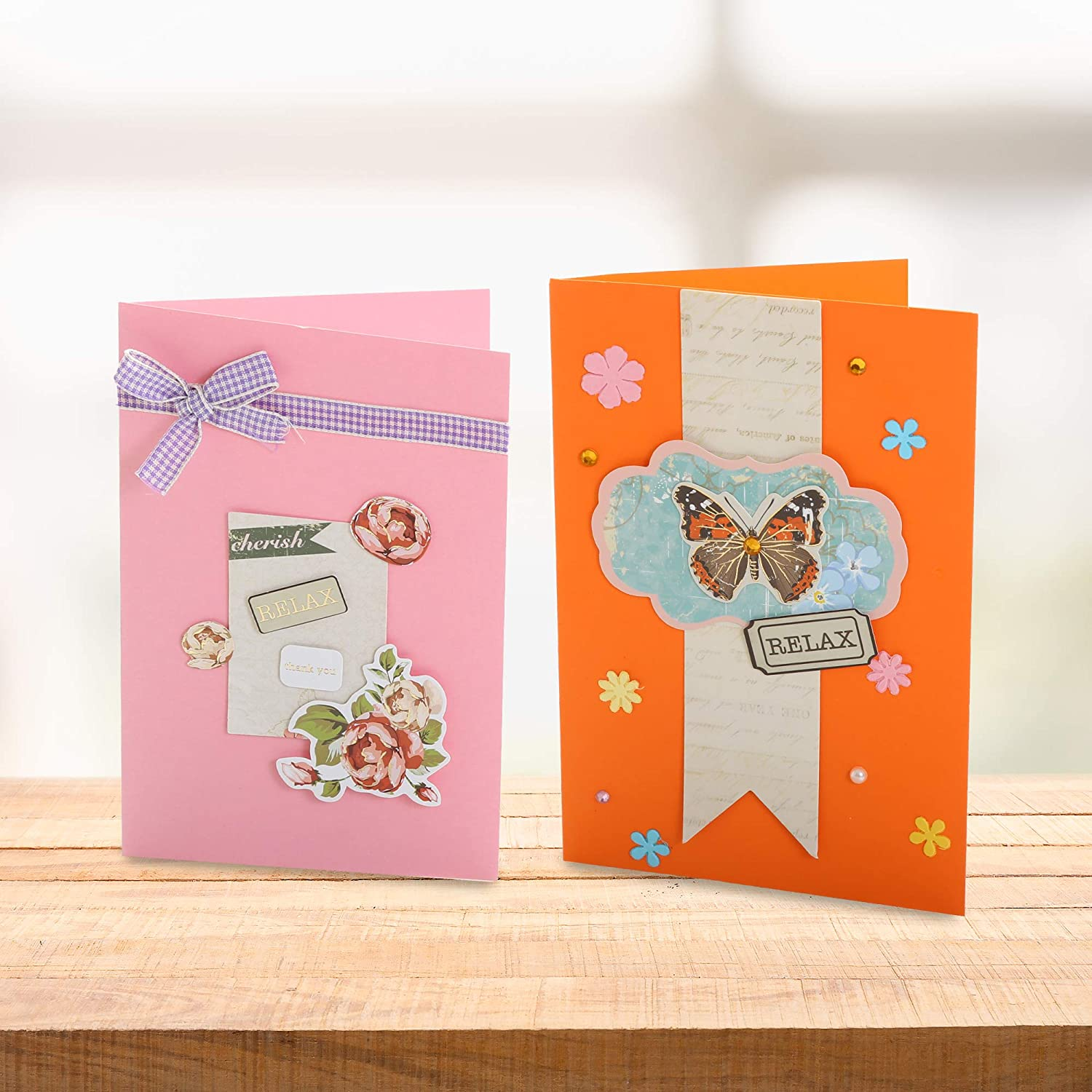 PICKME Cherish Greeting Card Making Kit Make Your Own Cards Set with Beautiful Assortment of Art Characters /& Envelopes Perfect Gift Making Kit Create Your Personalized Birthday /& Thank You Card
