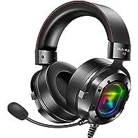 Fone de ouvido RUNMUS para jogos, RGB