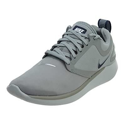 latest good texture quality products Nike Women's LunarSolo Lt Light Pumice/Navy-Barely Grey Running Shoes (7 B  US)