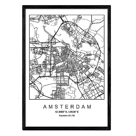 Imprimer Plan De La Ville Damsterdam Style Scandinave En