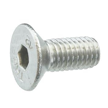 Senkschrauben mit Innensechskant und Vollgewinde Werkstoff A2 VA // V2A ISO 10642 // DIN 7991 5 Senkkopfschrauben Edelstahl M12 x 40 mm