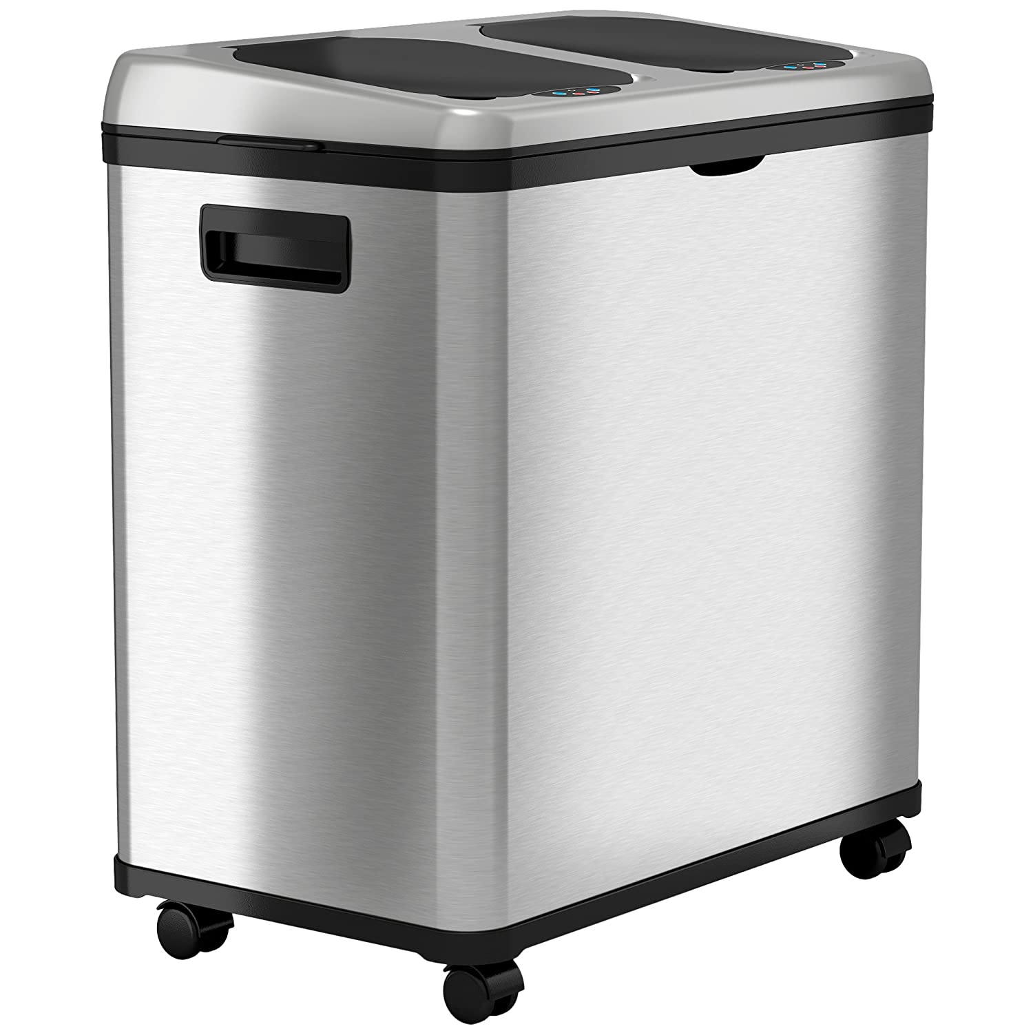 Amazoncom Itouchless Stainless Steel Trash Can Recycler