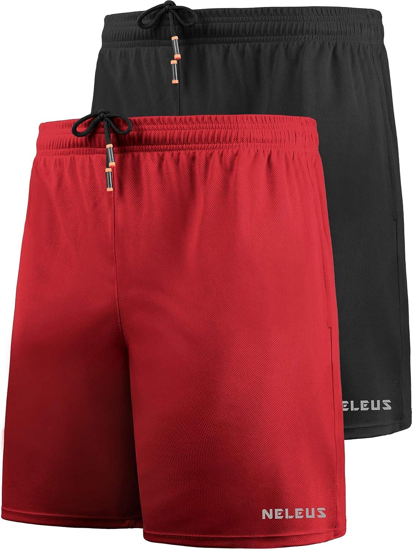 Neleus Mens Lightweight Swim Trunks Beach Shorts