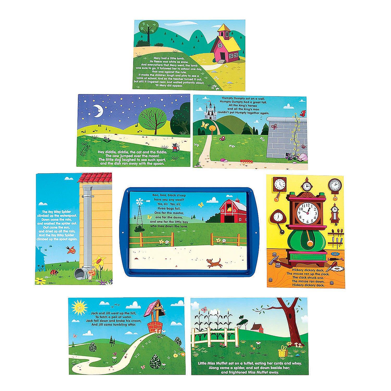 Fun Express Retelling Nursery Rhymes Magnetic Activity Set (45 Piece Set) Language Teaching Aids by Fun Express