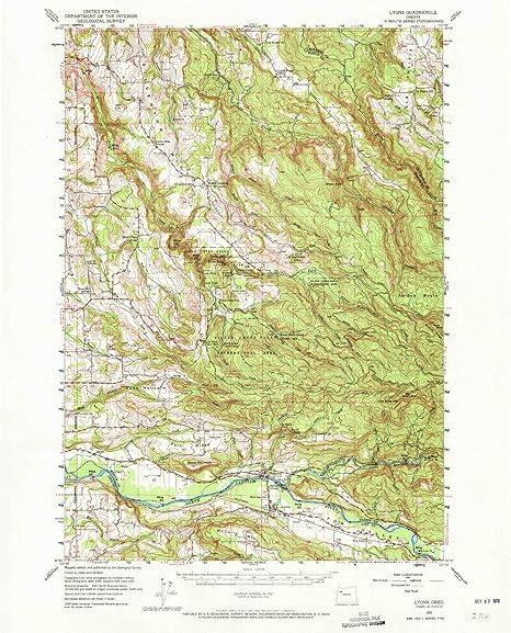 Lyons Oregon Map.Amazon Com Yellowmaps Lyons Or Topo Map 1 62500 Scale 15 X 15