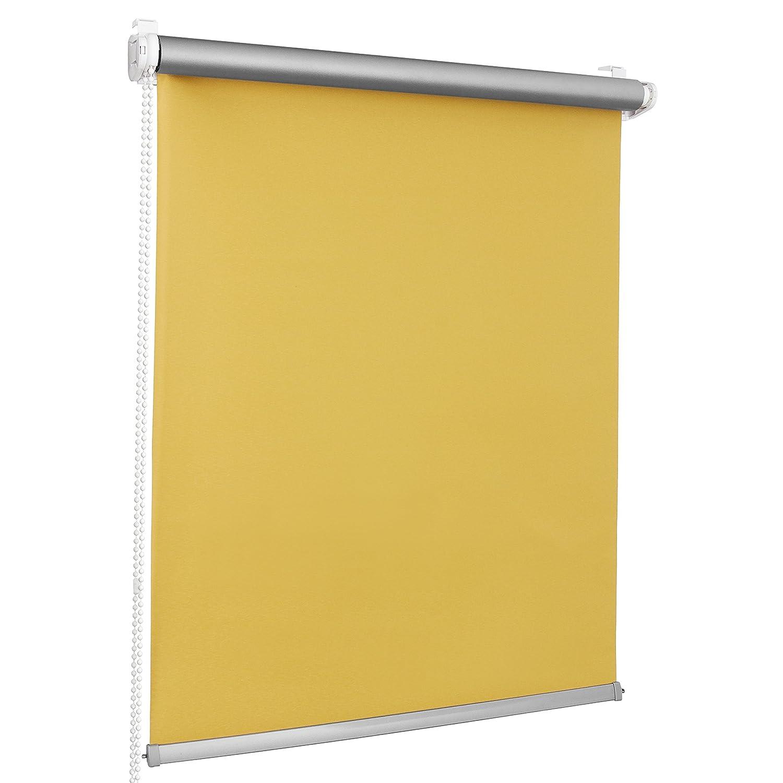 ROLLMAXXX ROLLMAXXX ROLLMAXXX Thermo Verdunkelungsrollo Klemmfix ohne Bohren (130 x 150 cm, Grau) B01H020BR2 Seitenzug- & Springrollos 078a08