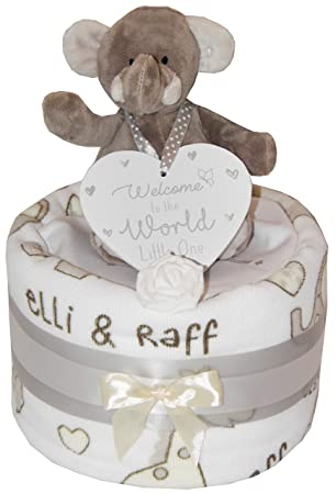 maternity gift baby shower gift Baby boy girl unisex single tier nappy cake