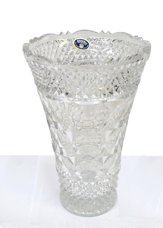 ボヘミアン カットクリスタル フラワーベース 花瓶 B071HVGVPC