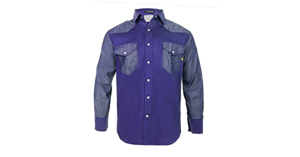 0d337dd80fa1 Just In Trend │Flame Resistant FR Shirt - 88 12 - Western Style - Two Tone