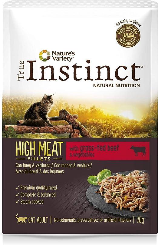 True Instinct High Meat Filletes con Buey para Gatos 70 gr - Pack ...