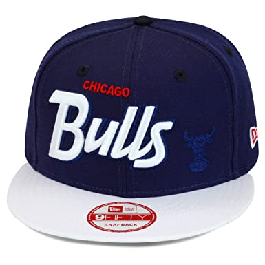 fbf89aff267 New Era 9fifty Chicago Bulls Custom Snapback Hat Cap Navy White White