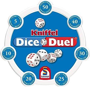 Schmidt Spiele 49353 Kniffel Dice Duel - Juego de Mesa (Contenido en alemán): Amazon.es: Juguetes y juegos