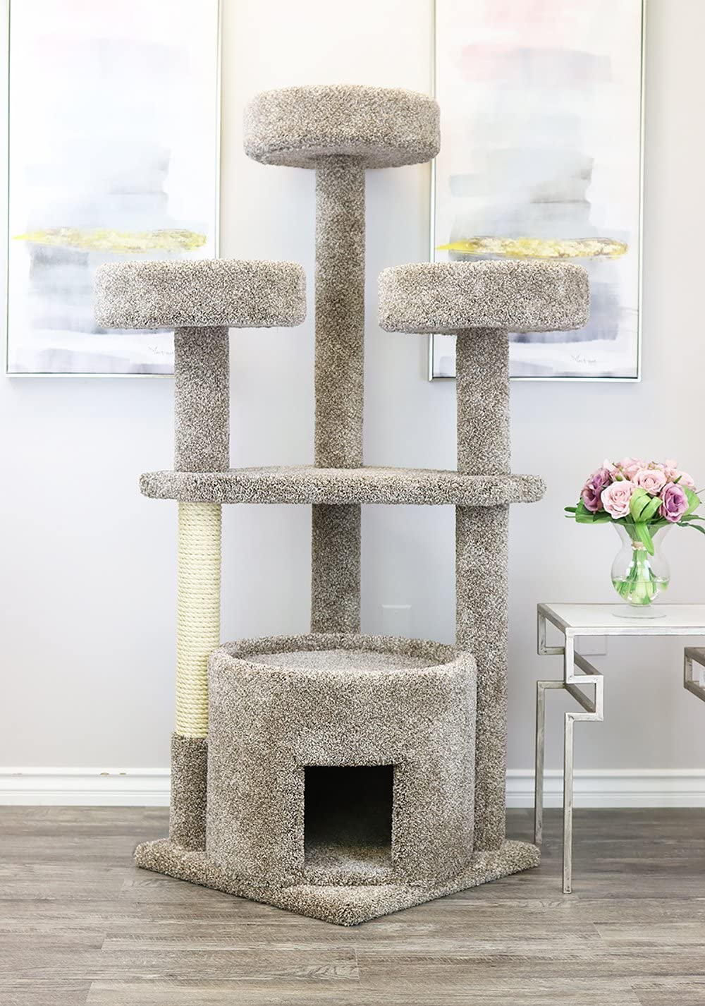 Prestige Cat Trees 130014-Neutral Main Coon Cat House Cat Tree
