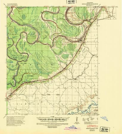 Amazoncom Mississippi Maps 1940 Mechanicsburg Ms Usgs - Us-map-ms