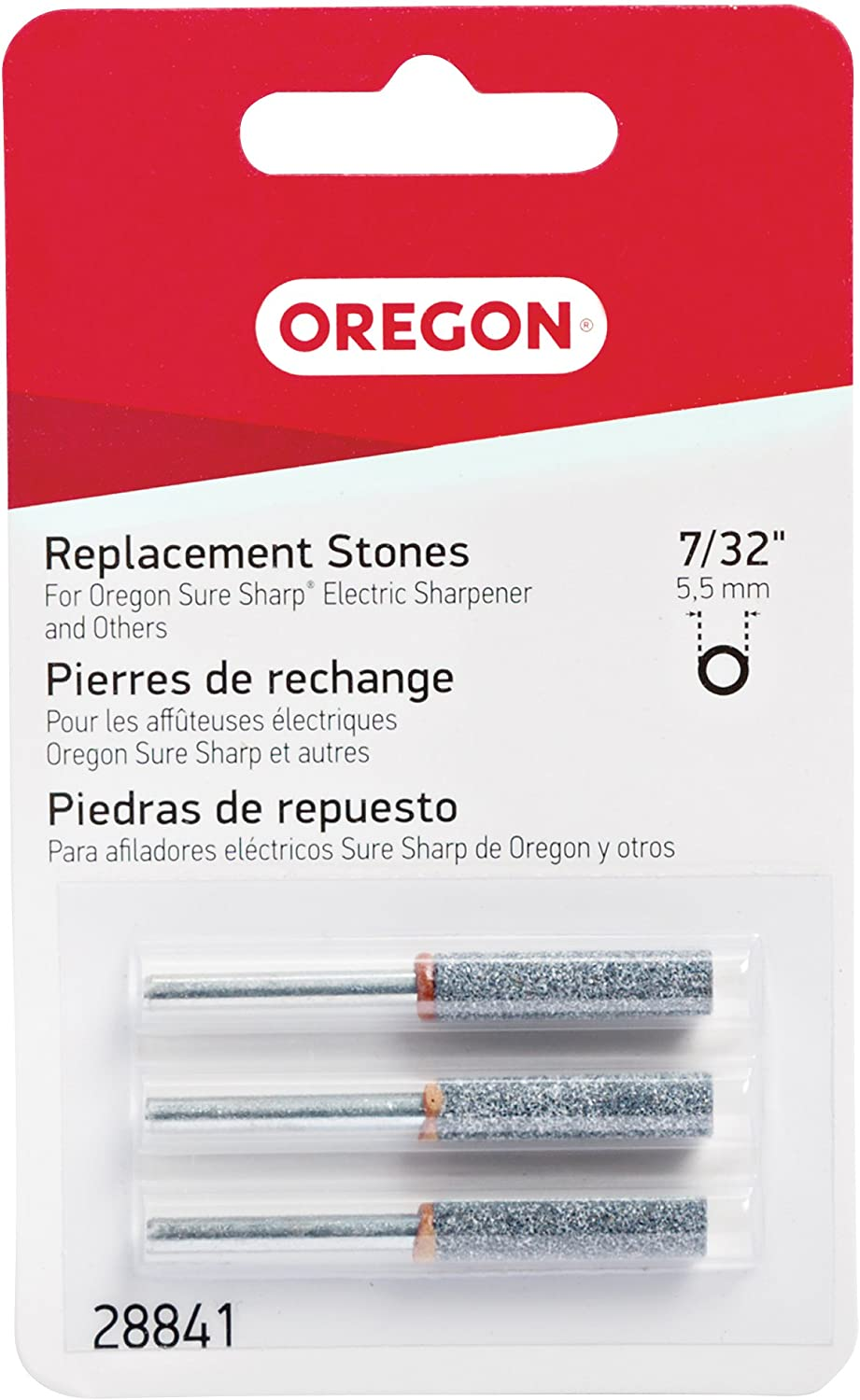 Oregon 28841 7/32-Inch Electric Sure Sharp Replacement Sharpening Stones