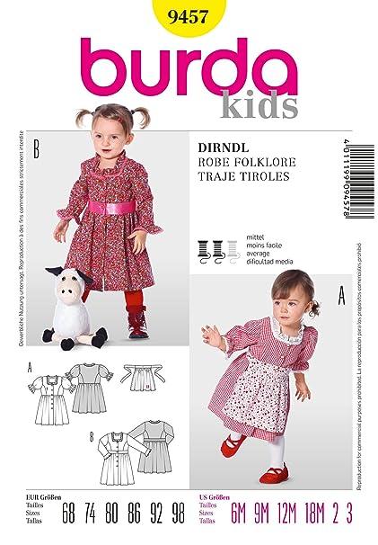 Amazon.com: Burda Burda Style Dirndl Dress Sewing Pattern ...