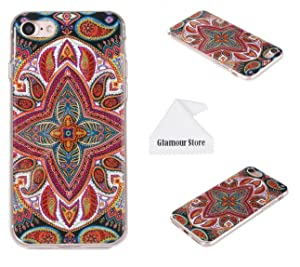 iPhone 7 Case, Flower Printed Design TPU Case Cover Skin Protective For Apple iPhone 7 4.7 inch With A Free Cleaning Cloth As a Gift