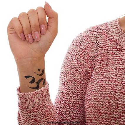 Amazon 5 X Om Tattoo Black Om Aum Symbol Tattoo Shiva Buddha