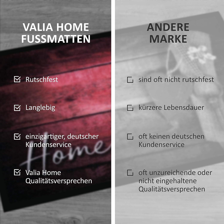 Porte dentr/ée Polyester 40 x 60 cm Tapis antid/érapant Valia Home Paillasson pour int/érieur et ext/érieur 3 Designs Home Design 60 x 40 cm Home 1