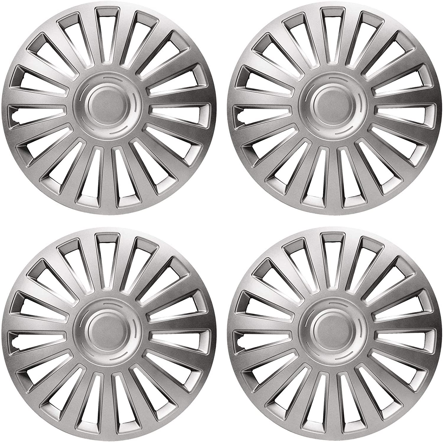 UKB4C 4 x Wheel Trims Lux Hub Caps 16 Covers fits Dacia Sandero
