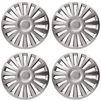 "UKB4C 4 x Wheel Trims Lux Hub Caps 15"" Covers fits Fiat Punto Doblo Multipla"