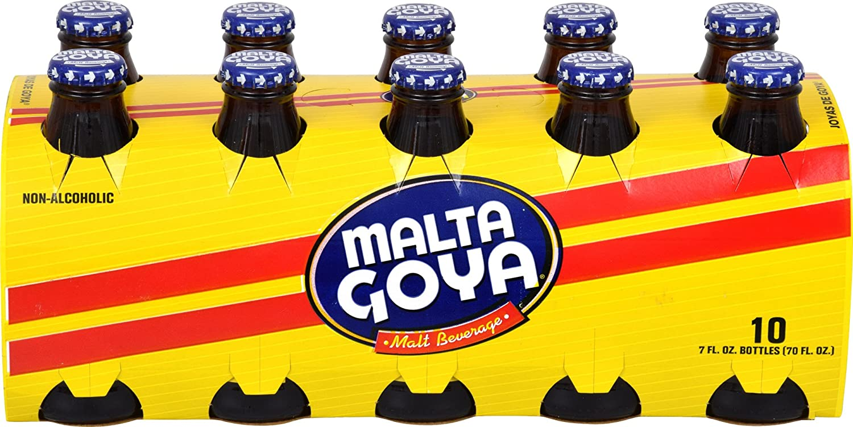 Goya Malta Non-Alcoholic Malt Beverage, 10 - 7 Fl. Oz. Bottles